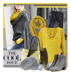 """""""Grey & Yellow for Fall"""" by brendariley-1 ❤ liked on Polyvore featuring 3.1 Phillip Lim, Wrap, Jigsaw, Vince Camuto, Nine West, Linda Farrow and Gianvito Rossi"""