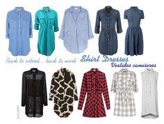 """""""Shirt Dresses / Vestidos Camiseros"""" by lucebuona on Polyvore"""
