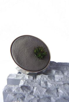 Set in Cement Round Ring - concrete ring -    Made exclusively for sale in the Walker Art Museum Gift Shop.  shop.walkerart.org