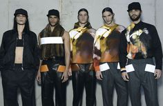 Backstage Givenchy Fall 2014 Menswear