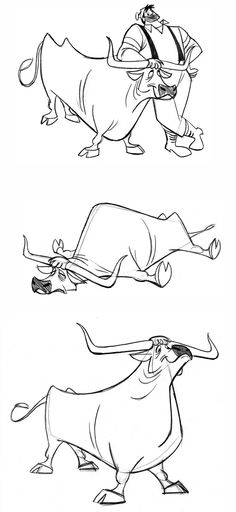 Paul Bunyon and his ox, Babe, character design. Character Model Sheet, Character Drawing, Character Illustration, Character Concept, Illustration Art, 3d Character, Cartoon Sketches, Animal Sketches, Cartoon Styles