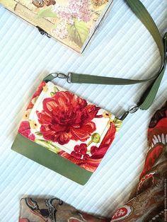 Купить Сумочка через плечо Пионы - купить сумку, яркая сумка, сумочка через плечо