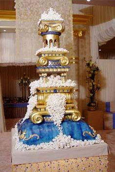 extravagant wedding cakes | An extravagant, custom wedding cake.