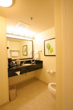 Our bathrooms are spacious, clean and bright.