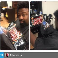 #Repost @fittedcuts Shout to my friends for the new #iCape. First shop Centre County with phone friendly stylist cape!  Give your clients a better experience iCape 2.0, the innovative haircutting cape that lets clients stay connected.  Back iCape 2.0 or preorder yours today on #Kickstarter at http://kick.icape.biz #barber #barbershop #hairstylist #salon #StayConnected #tech #iphone