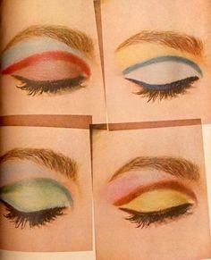 "T͎h͎e͎ ͎G͎o͎-͎G͎e͎t͎s͎ on Instagram: ""Now's the perfect time to get creative, what colour would you go for?  - - - - - #makeup #makeupideas #1960s #1960smakeup…"""
