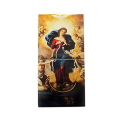 Blessed Virgin Mary Undoer of Knots wood and ceramic icon, religious gift idea, christian gifts, christian icons, Mary Untier of Knots