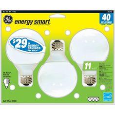 GE Energy Smart Compact Fluorescent Globe Light Bulb #GELighting