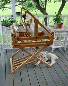 A lamb and a loom - what's not to love?