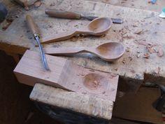 Carved Spoons, Carving, Tableware, Furniture, Dinnerware, Wood Carvings, Tablewares, Sculptures, Home Furnishings