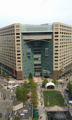 Detroit Downtown Campus Martius. Building is home of Compuware to name a few.
