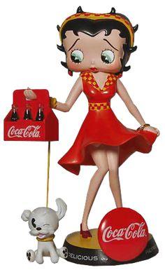 Coca Cola and Pudgy Coca Cola Poster, Coca Cola Ad, Always Coca Cola, World Of Coca Cola, Coke Ad, Pepsi, Comic Cat, Imagenes Betty Boop, Betty Boop Figurines