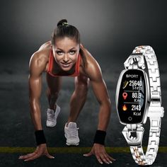 Look smart and track the progress of your health & fitness goals wearing this fashionable and functional smart watch for women. #smartwatchesforwomen #androidsmartwatchesforwomen #smartwatchesforwomenrosegold