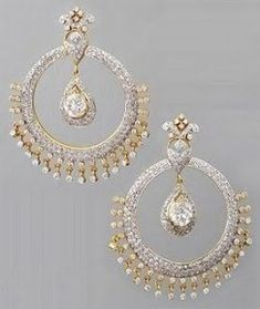 Fantastic Images Bridal Earrings traditional Thoughts Wedding party bracelets is usually an important part of your bridesmaid look. It is your big day, he Gold Jewellery Design, Gold Jewelry, Craft Jewelry, Tiffany Jewelry, Handmade Jewellery, Bridal Earrings, Wedding Jewelry, Wedding Necklaces, Indian Earrings