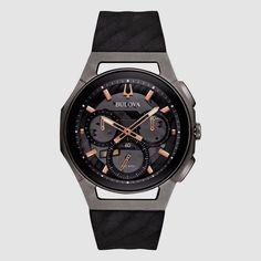 66bae1c9b Bulova Watch 262kHz Curv Chronograph 98A162 Titanium Men's Watch NEW #Bulova  #Casual