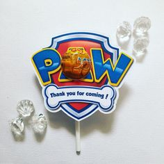 Paw patrol party favour - Glitter and Glue Designs Paw Patrol Party Favors, Paw Patrol Party Supplies, Birthday Party Themes, Your Child, Boy Or Girl, Kids, Cake Ideas, Glitter, Design