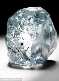 Rare gem: Petra Diamonds Ltd said it had recovered the 'exceptional' 122.52-carat gem (pictured) at its Cullinan mine in South Africa.       6/2014