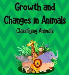 This TPT resource includes a lesson on animal classifications (mammals, reptiles, amphibians, insects, birds, fish). This lesson aligns with the Science and Technology unit on 'Growth and Changes in Animals' of the Ontario Curriculum.