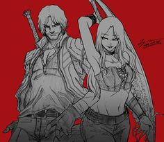 Dante X Lucia Devil May Cry Devil May Cry Devil Et Crying