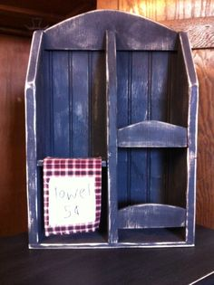 Bathroom Shelf Towels 5 Cents by CoalCountryGathering on Etsy, $30.00