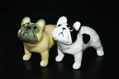 French Bulldog dog  figurine ceramics handmade  by RussianArtDogs