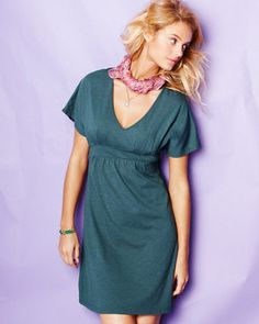 Easy Banded Knit Dress