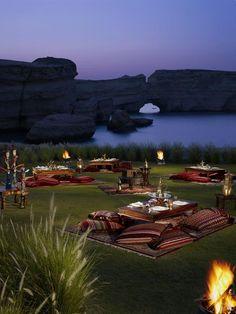 Dine under the stars at Turtle Beach, Shangri-La.