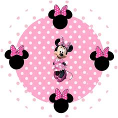 Full Kit Minnie Rose - With frames for invitations, labels for goodies, souvenirs and pictures!