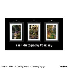 Custom Photo Art Gallery Business Cards
