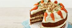 Gluten-free doesn't have to mean boring with this carrot and cheesecake tower. Celebrate Coeliac awareness week with a gluten-free dessert Asda Recipes, Sweet Recipes, Recipies, Carrot Cake Cheesecake, Carrot Recipes, Biscuit Recipe, Gluten Free Baking, Savoury Cake, No Bake Desserts