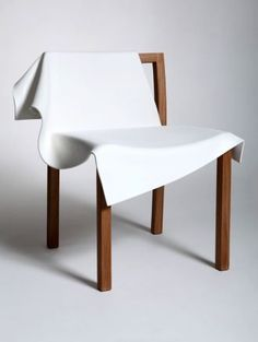 Reut Rosenbery 'Toga' chair, transforming a solid structure into something with freedom and movement
