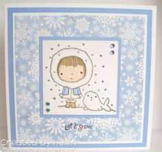 Using 'Mimi's Winter Friends' from Penny Black