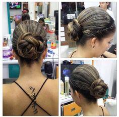 #recogidos  simple de un peinados para cabellos con ondas