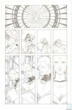 Frank Quitely artwork from 'Multiversity'.