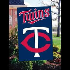 """Minnesota Twins 44"""" x 28"""" 2-Sided Banner/Flag Visit our website for more: www.thesportszoneri.com"""