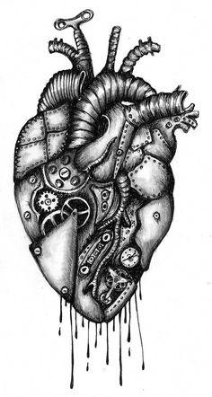 Arm Tattoo, Ozzy Tattoo, Steampunk Heart, Kunst Tattoos, Tattoo Drawings, Mechanical Art, Heart Tattoo Designs, Full Sleeve Tattoos, Anatomy Art