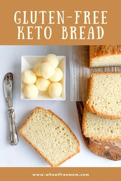 This gluten-free keto bread is simply so good! Love it sliced and toasted with a dollop of jam on it. The gluten-free keto recipe is super simple to make too and requires no yeast in it. Free Keto Recipes, Wheat Free Recipes, Low Carb Recipes, Bread Recipes, Low Carb Bread, Keto Bread, Craving Bread, Low Carb Sandwiches, Gluten Free Baking