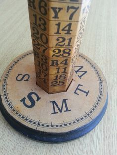The Continuous Calendar Perpetual Wooden by LuckygirlFlorida