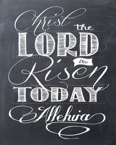FREE Easter Printable: Christ the Lord is Risen Today Alleluia