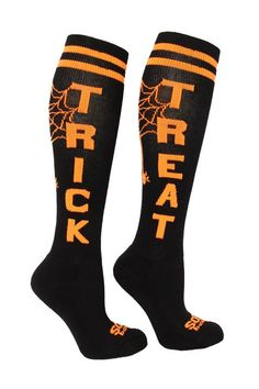 Dress appropriately for any occasion that requires such strangeness with the Trick or Treat Sox! These incredibly versatile socks allow for tricky wear or simple stash of treats -- making them both Tr
