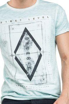 T-shirt 1st level tingida | 114571 VERDE CRISTALINO | Salsa