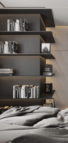 To the fireplace (shaft)? Built In Furniture, Living Furniture, Furniture Design, Shelf Design, Cabinet Design, Master Bedroom Design, Home Bedroom, Modern Interior Design, Interior Architecture