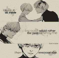 """Karunase — """"I keep it all inside because I'd rather the pain..."""