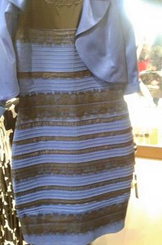 It's been driving people crazy. What colors are the dress? Is it blue with black lace? Or white with gold lace? You see one or the other, and you probably can't believe anyone else would see anything different. Each person is certain that his or her perception is correct. So what's going on?