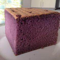 Blueberries flavoured sponge cake