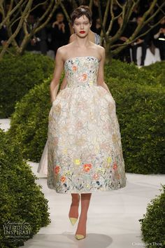 Para novia que no quiere gran parafernalia - Christian Dior Spring/Summer 2013 Couture