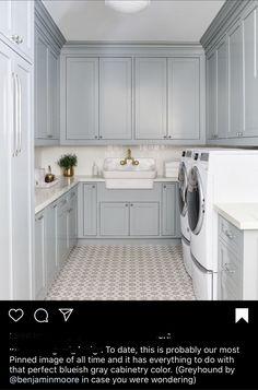 Blue Laundry Rooms, Mudroom Laundry Room, Laundry Room Layouts, Laundry Room Remodel, Laundry Room Cabinets, Blue Cabinets, Laundry Room Design, Mud Rooms, Laundry Room Floors