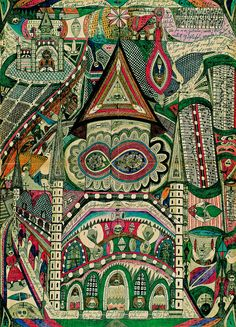 The Skt. Wandanna Cathedral in Band Hain by Adolf Wölfli
