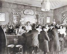 Berlin,In einem Nachtlokal, um 1900.