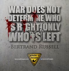 Thoughts on war...